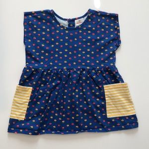 Hanna Andersson Blue Flora Top - Size 150 (12.)